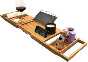 Luxury Bath Caddy Tray for Tub | Bath Table