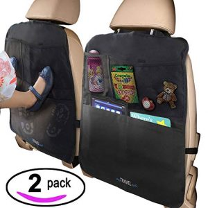 MyTravelAide Kick Mats with Car  Backseat Organizer