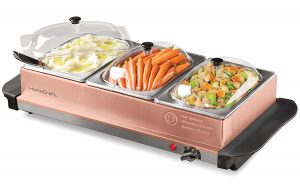 Nostalgia BSC15 3-Station Warming Tray