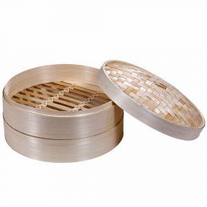 Premium 2-Tier Non-stick Bamboo Steamer