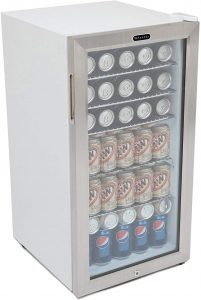 Whynter BR-128WS Lock, 120 Can Capacity Beverage Refrigerator