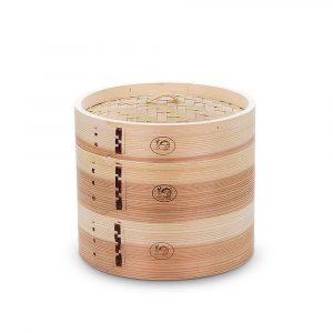 XMYZ 7-12 Inch Handmade Wooden Steamer