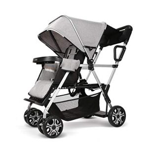 cynebaby Double and Collapsible Stroller for All Terrains (Oxford Grey)