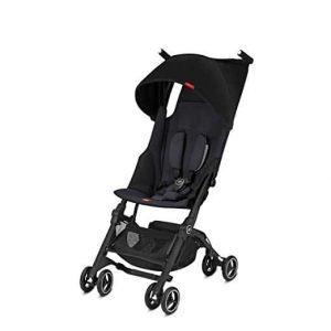 gb Pockit and Lightweight Baby Umbrella Stroller, Satin Black