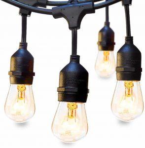 48 FT ADDLON Outdoor String LED Lights Commercial Grade