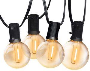48ft SUNTHIN G40 LED String 2700K Globe Hanging Loop Lights