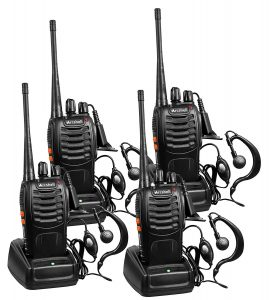 Arcshell Rechargeable Long Range Radios- 4 Pack
