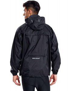 Baleaf Unisex Packable Outdoor Rain Jacket with Waterproof Hooded