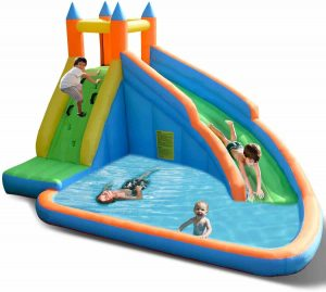 Costzon Inflatable Slide Bouncer, Water Pool