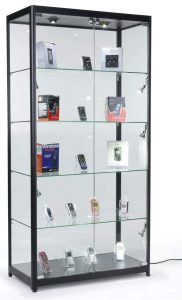 Displays2go WC3912LEDB Display Cabinet