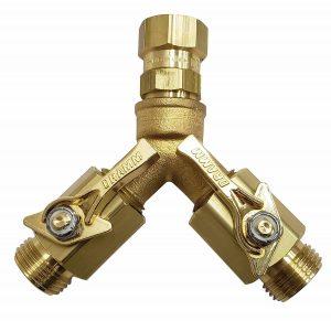 Dramm 22319 Brass Twin Hose Splitter