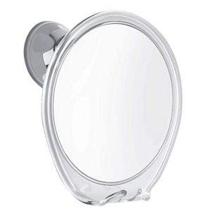 Fogless Shower Mirror with Razor Hook
