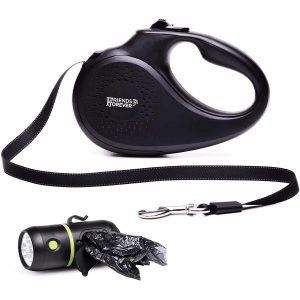 Friends Forever Reflective-Nylon Retractable Dog Leash