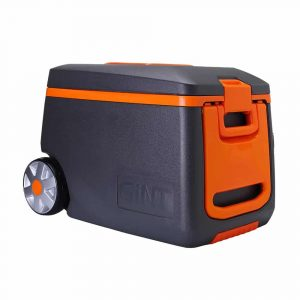 GiNT Rolling Cooler with Telescoping Handle, 53 Quart I