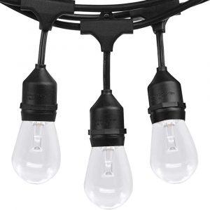 SUNTHIN 2 Pack 48ft LED Outdoor String Lights