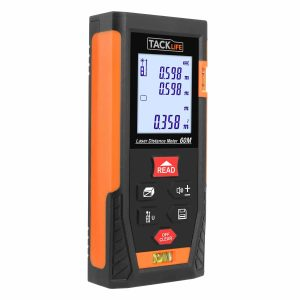 Tacklife HD60 Laser Tape Measure with Two Bubble Levels