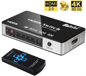 Univivi HDMI Switch 4k@60Hz 5-Port