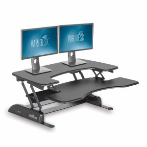 VARIDESK Height-Adjustable Standing Desk – Black