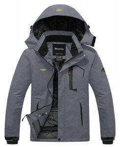 Wantdo Men's Mountain Windproof Waterproof Ski Rain Jacket