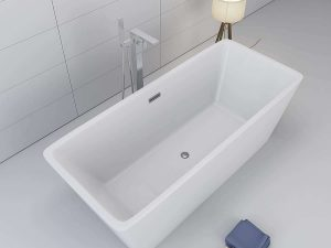 "1001Now Garda 60"" Freestanding White Acrylic Bathtub"