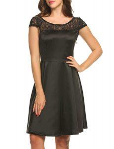 ACEVOG Women's Vintage Sleeveless Dress