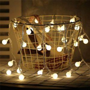 Danslesbls LED Fairy Twinkle Globe String Lights