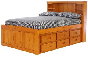 Discovery World Furniture 12 Drawers Bookcase Captains Bed