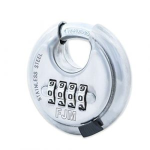 FJM Security 4-Dial Combination SX-790 Disc Padlock