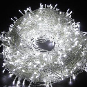 FULLBELL 65.6 Feet 200 LED Twinkle Decorative String Lights (White)