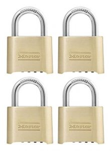 Master Lock Padlock 175D Combination Lock (Pack of 4)