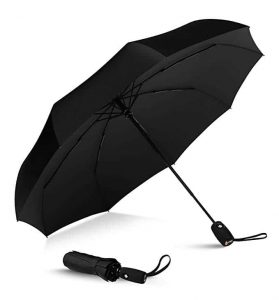 REPEL Windproof Travel Umbrella w/Teflon Coating