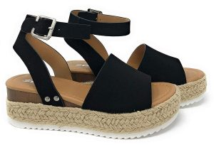 SODA Women's Open Toe Wedge sandals