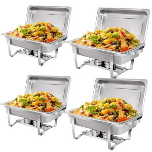 SUPER DEAL Stainless Steel Chafer Dish for Catering Events
