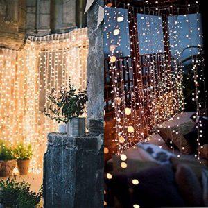 Twinkle Star Window Curtain 300 LED String Light