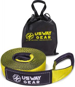 "USWAY GEAR 3"" x 20' Recovery Tow Strap"