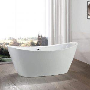 Vanity Art 71 inch Freestanding Acrylic Bathtub