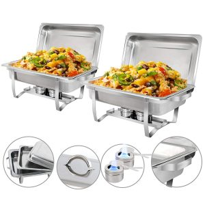 ZenChef New Version Chafing Dish with Fuel Holder & Lid (2)