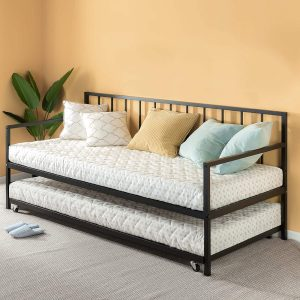 Zinus Eden Twin Daybed and Trundle Set / Premium Steel Slat Support