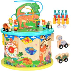 Amagoing Large Dinosaur 11 in 1 Activity Cube