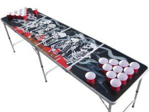 Aromzen Skeleton Beer Pong Table