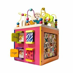 B. Zany Zoo Activity Cube wooden