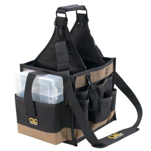 Custom LeatherCraft 1528 22 Pocket Large Electrical Tool Carrier