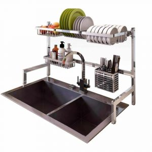 Dish Drying Rack Over Sink Display Stand Drainer