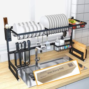 Dish Drying Rack Over Sink Kitchen Supplies