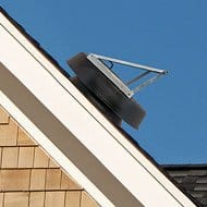 Natural Light Solar-powered 36-watt Attic Fan