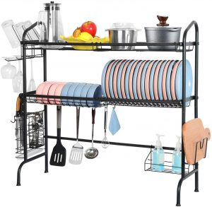 Over the Sink Dish Drying Rack, Weluvfit 2 Tier