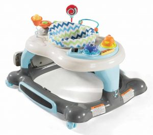 Storkcraft 4-in-1 Baby Walker with Jumping Board - Blue