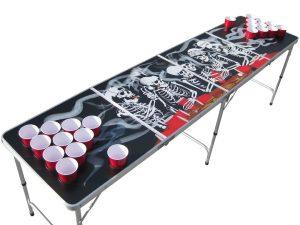 The Pong Squad Bones Skeleton Beer Pong Table