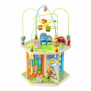 ZONXIE 7-in-1 Baby Bead Maze Toys Activity Play Cube