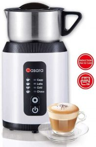 Casara Milk Frother,Electric Milk Frother and Steamer